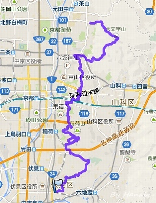 京都トレイル2015東山大会ログ