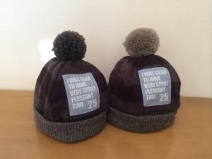 ワイドボーダーニット帽