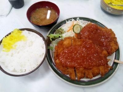 150212ハイライト十条店ジャンボチキンカツ定食600円
