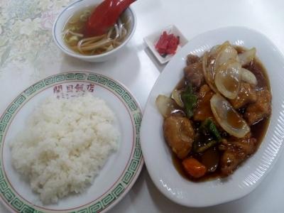 150216関目飯店酢豚定食500円