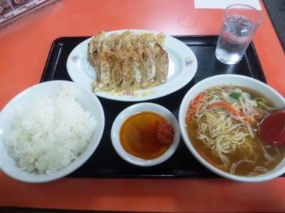 150223珉珉心斎橋店餃子定食540円