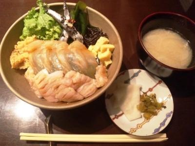 150224SuidoCafe週替わりナメタガレイべっ甲漬け丼1200円