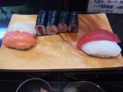 150303那古野寿司ワンコインランチ500円お寿司