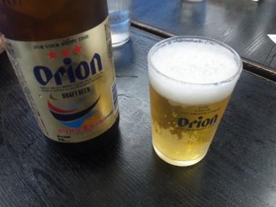 150307空港食堂オリオンビール490円