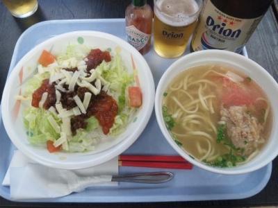 150307空港食堂タコライスそば付き650円