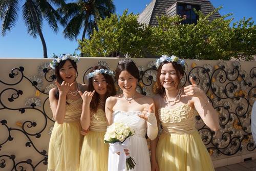 ハワイ挙式のお客様