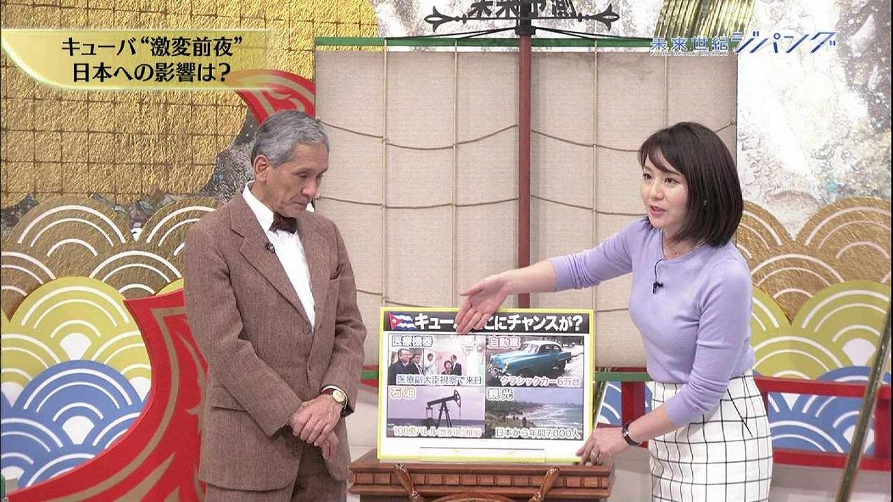 「未来世紀ジパング」に出演した大橋未歩アナ胸