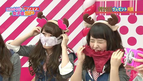 「NMB48のクリスマス女子会SP」で下着を噛む山田菜々