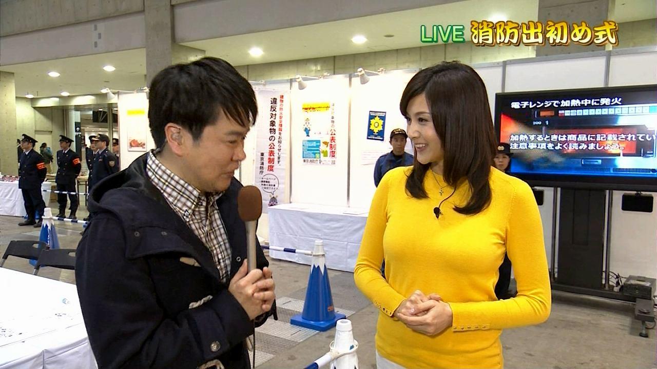NHKで消防出初式をレポートする藤原紀香