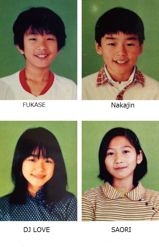 SEKAI NO OWARI(セカイノオワリ)メンバーの卒業アルバム写真(FUKASE、SAORI、DJ LOVE、NAKAJIN)