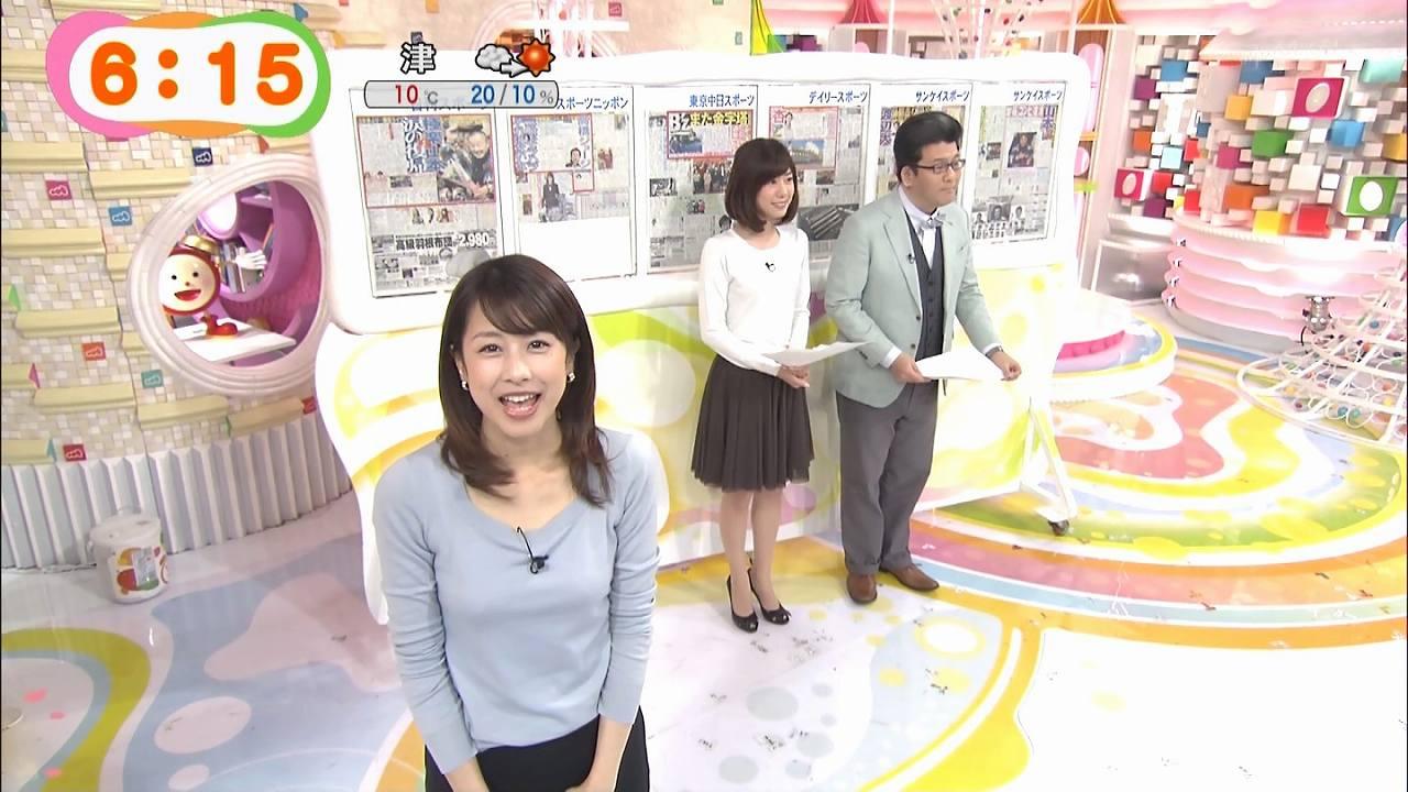 「めざましテレビ」にブラジャーが透ける服で出演した加藤綾子アナ