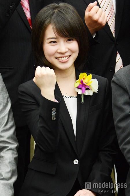 TBSの入社式の皆川玲奈アナ