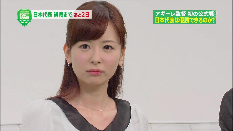 サッカー番組「FOOT×BRAIN」に出演する皆藤愛子