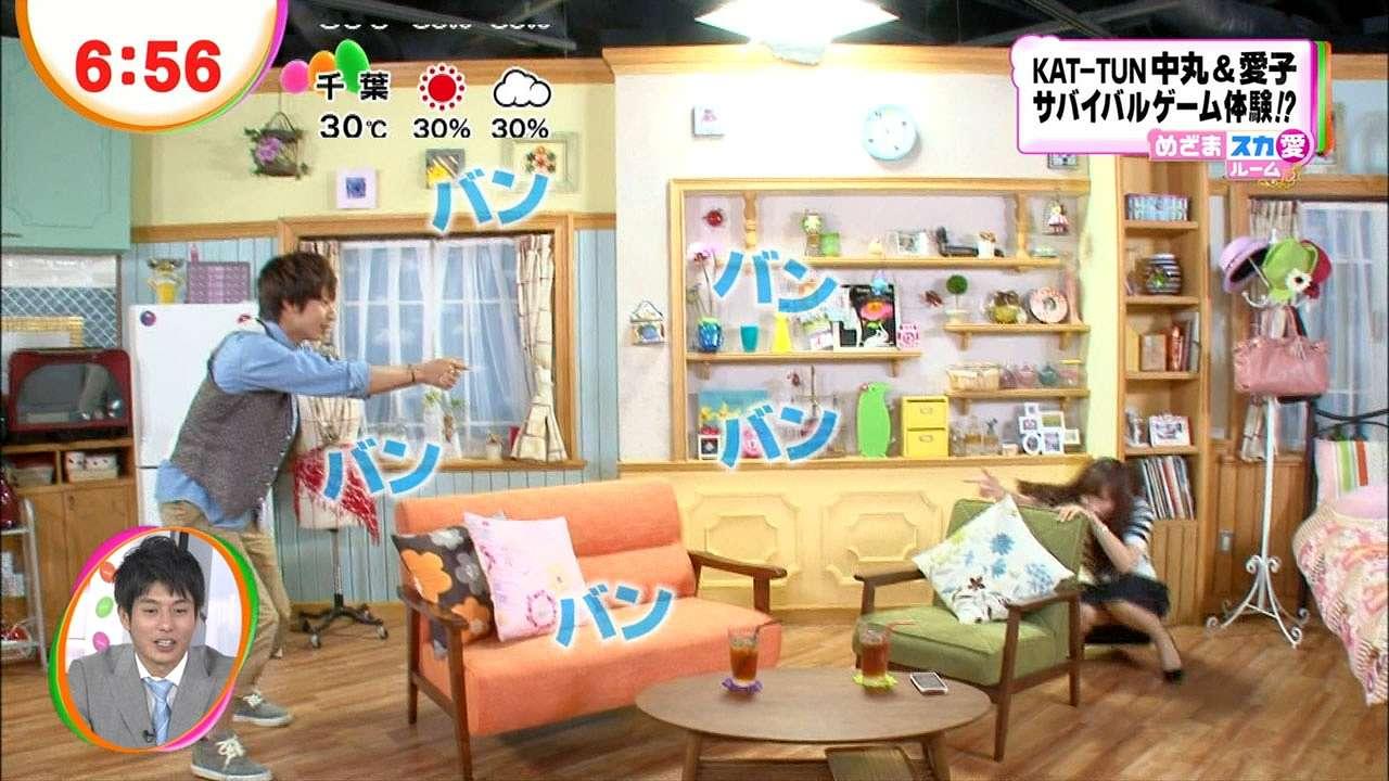「めざましテレビ」でしゃがんでパンチラ寸前の皆藤愛子