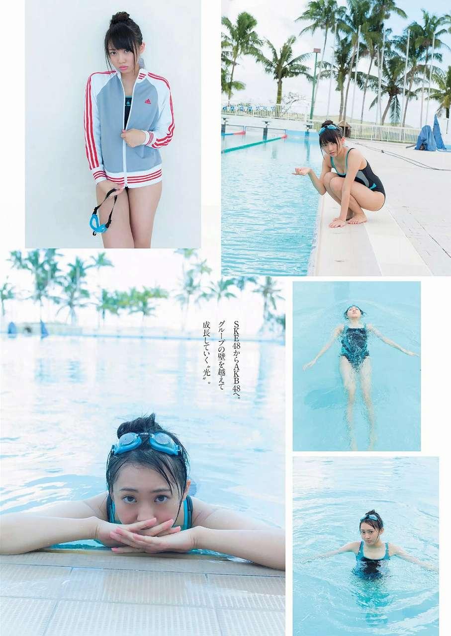 月刊ENTAME (エンタメ) 2015年3月号、競泳水着姿の木崎ゆりあグラビア