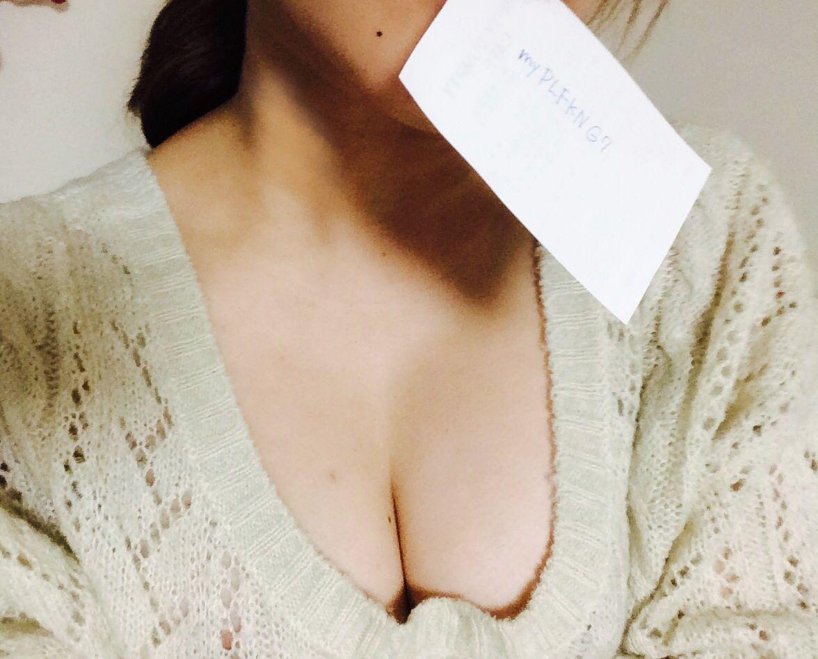 爆乳素人女の自撮り画像