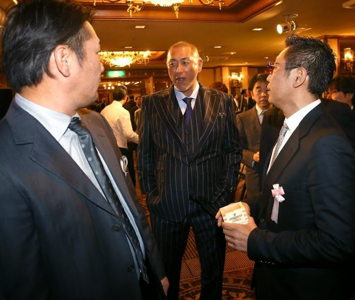 大魔神佐々木主浩の殿堂入りを祝うパーティーに出席した清原和博(激やせした清原和博)