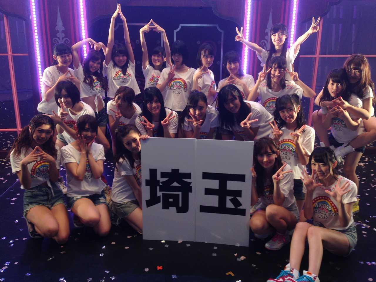埼玉公演に出演したHKT48メンバーの集合写真