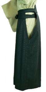 剣道の胴着、袴の横