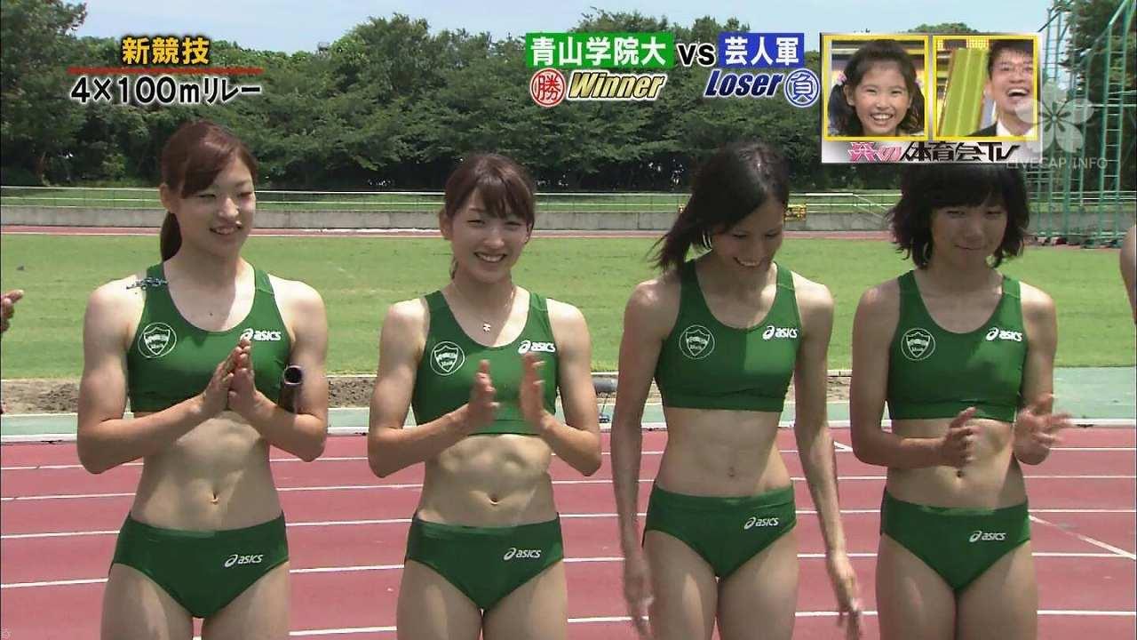「炎の体育会TV」に出演した青山学院大学女子陸上部の選手