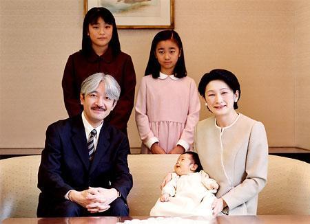 秋篠宮殿下と紀子さま、眞子さま、佳子さま、悠仁さま