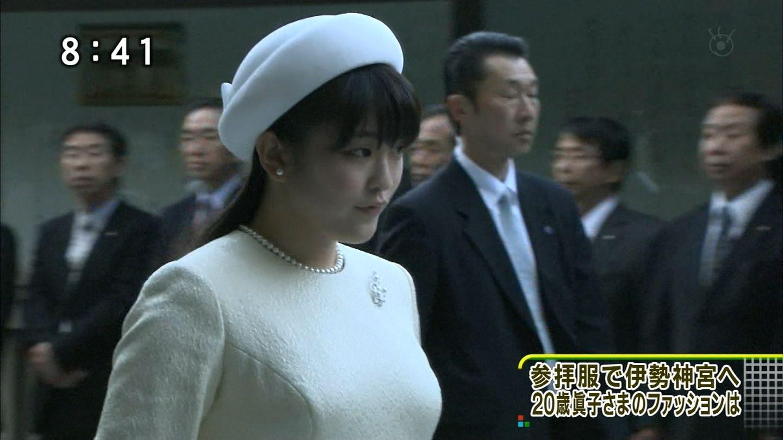 伊勢神宮を参拝服で訪れた眞子さま