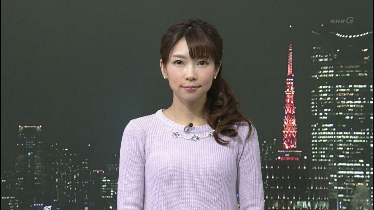 Cカップ胸が透けてる気象予報士・寺川奈津美