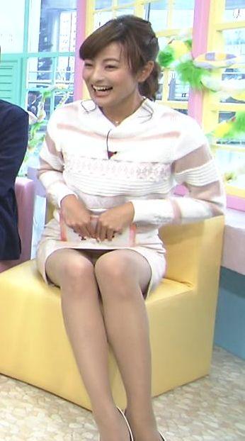 PON!で徳島えりかアナが純白パンチラ