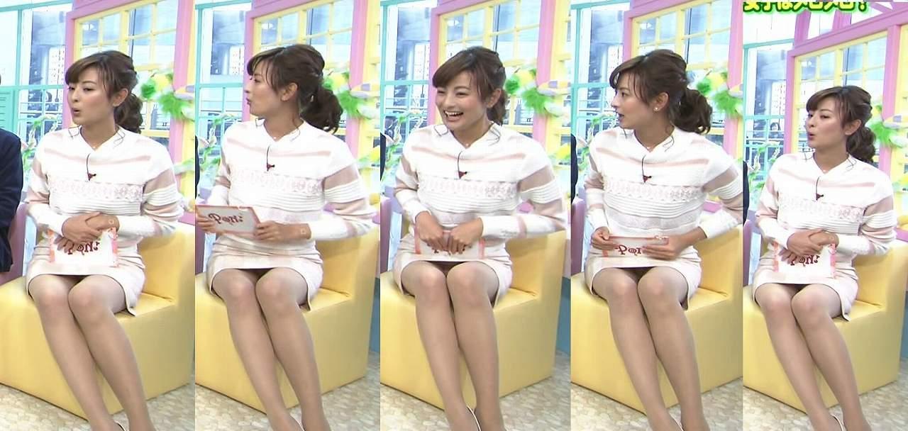 PON!、徳島えりかアナの純白パンツパンチラ
