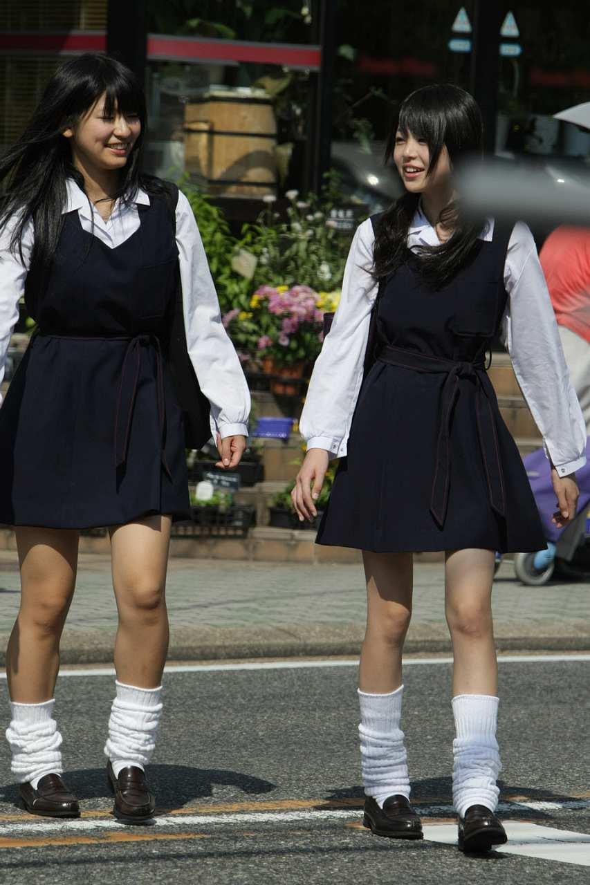 南山女子高、制服姿の女子高生(JK)