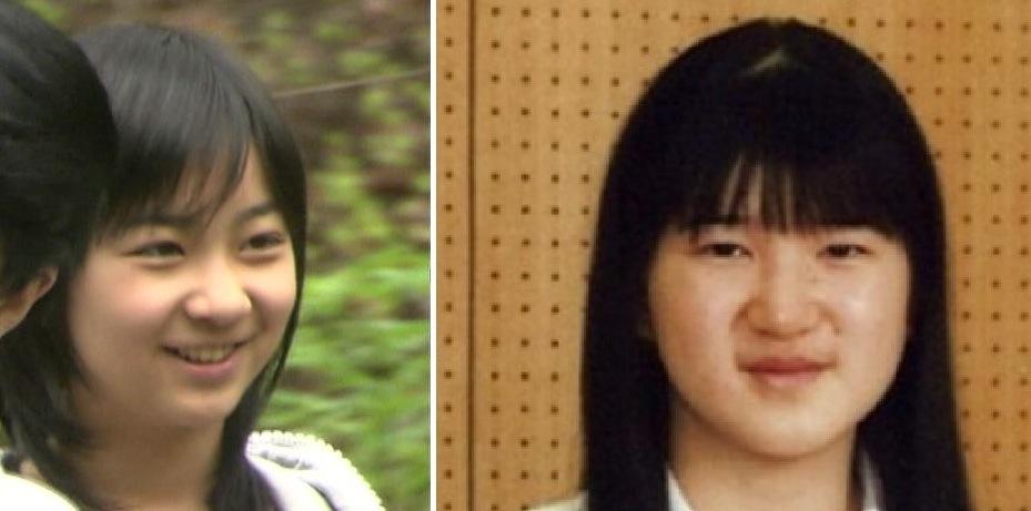 13歳の佳子さまと13歳の愛子さまの比較画像