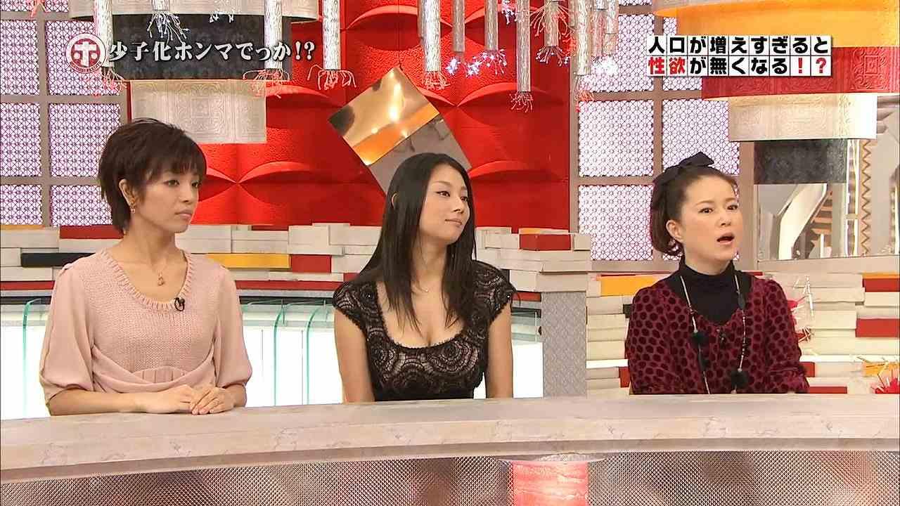 ホンマでっか!?TVに胸元ガバガバの服で出演した小池栄子