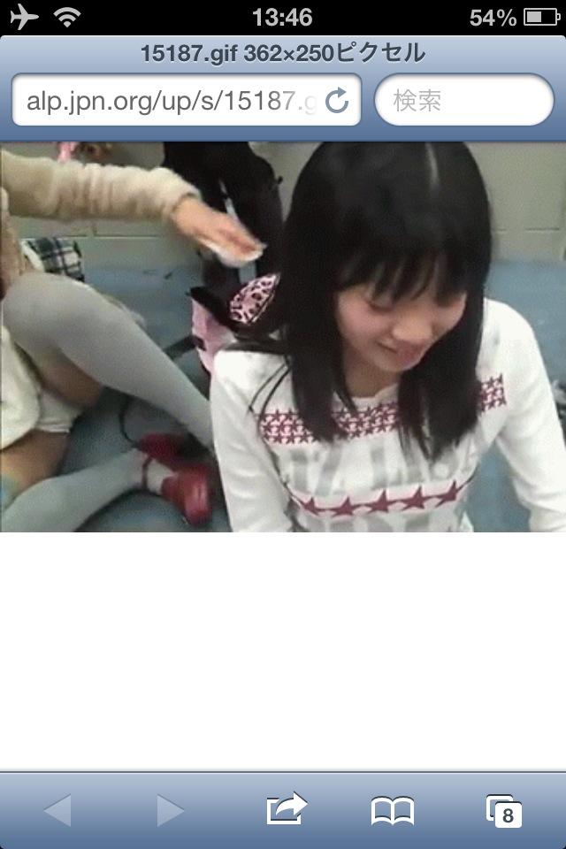 SKE48・古畑奈和の丸見え純白パンチラ