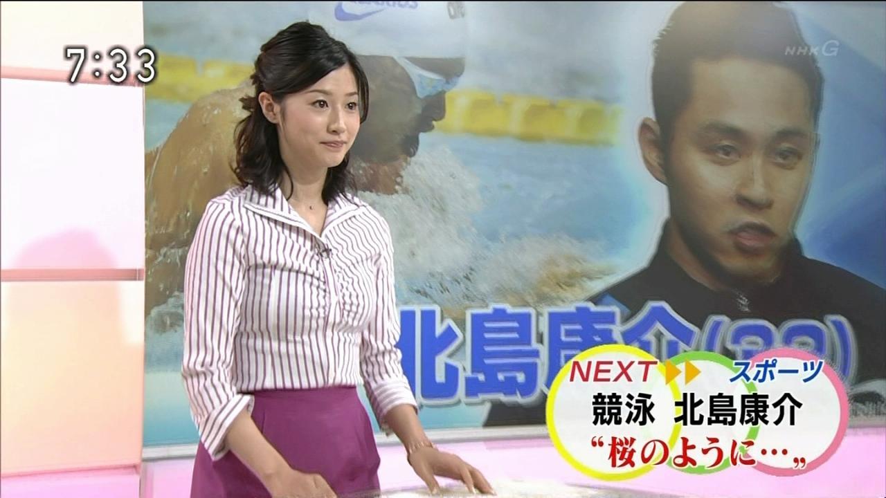 NHK「おはスポ」で女子アナの森花子の胸がはち切れそう