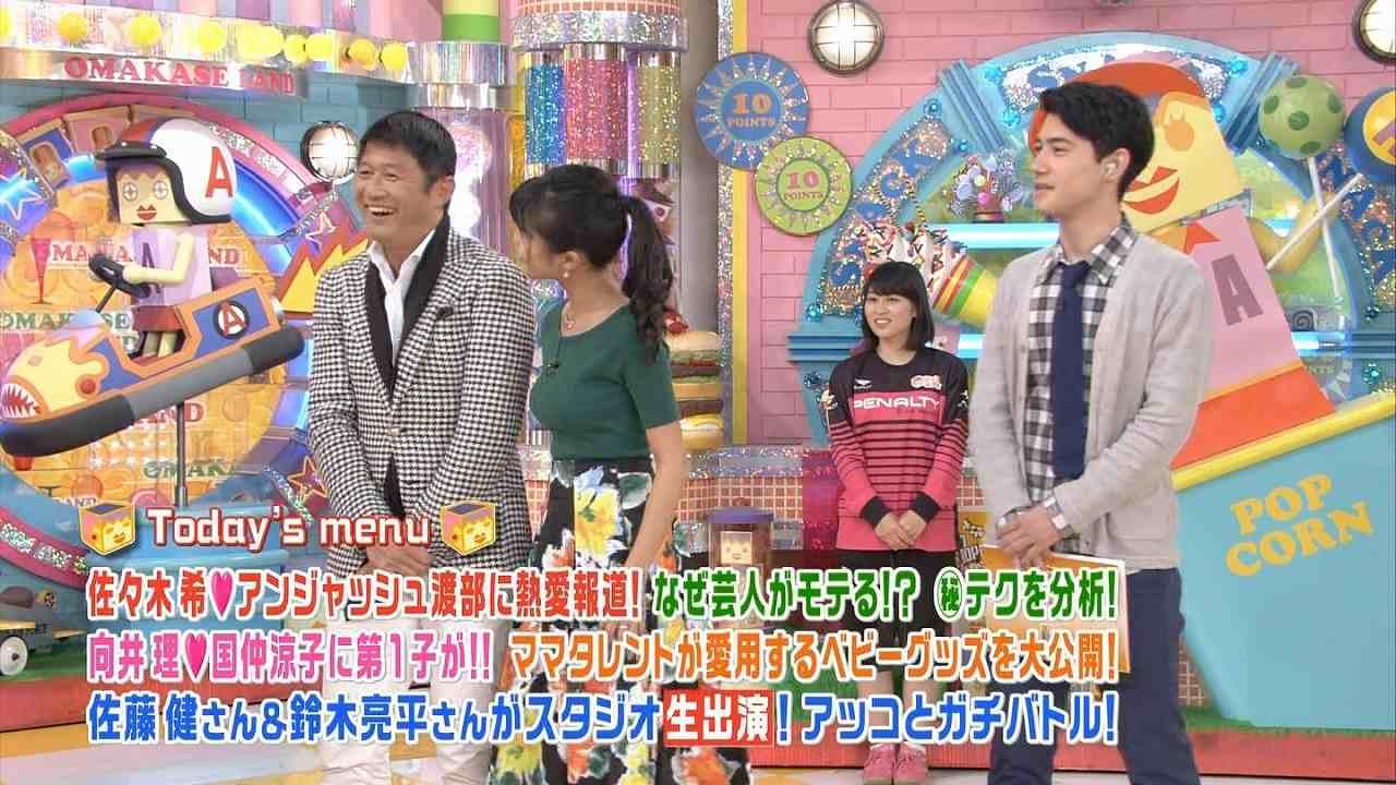 「アッコにおまかせ!」でニットを着た小島瑠璃子の着衣おっぱい