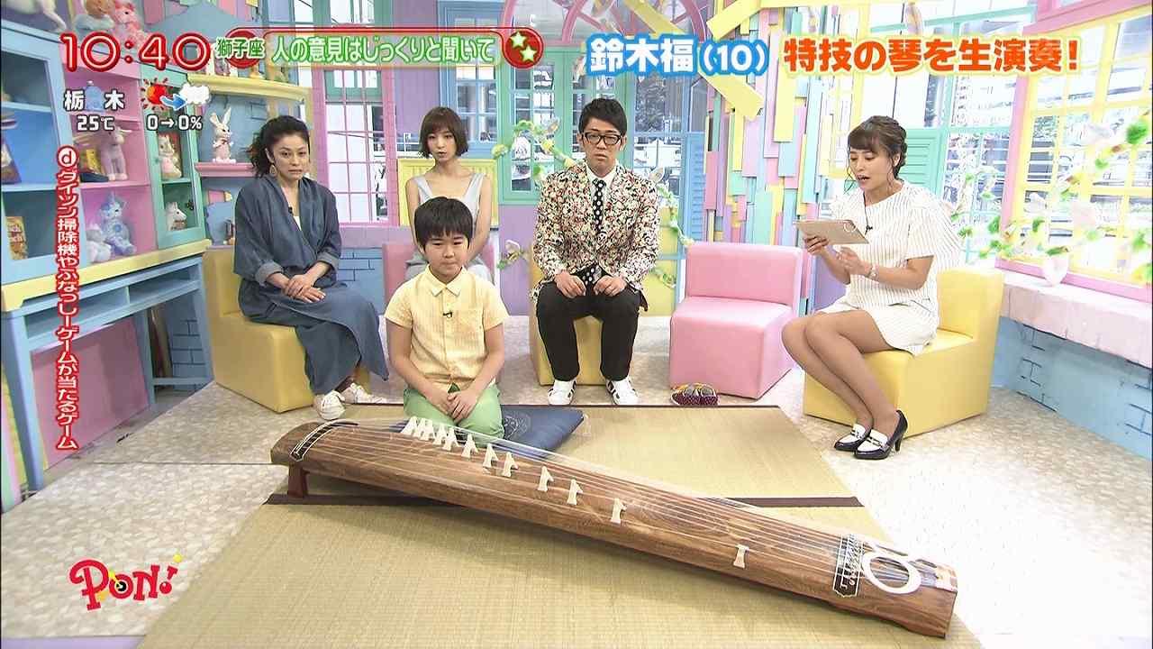 日テレ「PON!」、ミニスカートの衣装でソファに座った上田まりえアナ、太もも丸出し