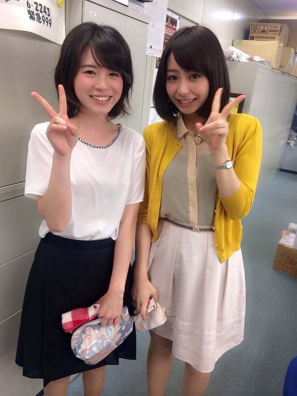 TBS・皆川玲奈アナと宇垣美里アナのツーショット