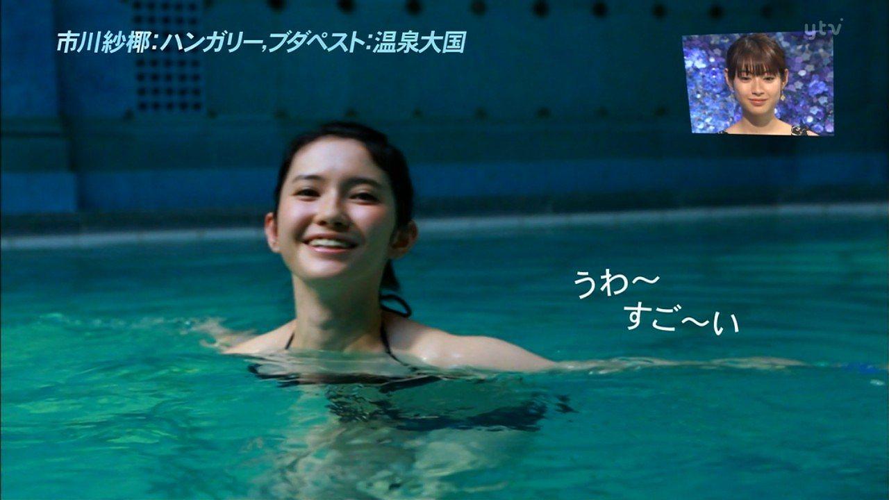 日テレ「アナザースカイ」で水着姿を披露した市川紗椰