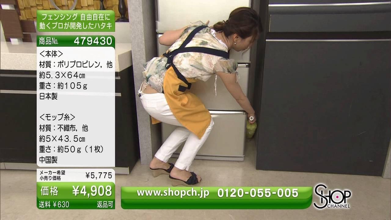 通販の「SHOP CHANNEL(ショップチャンネル)」でTバック丸出しの女子アナ
