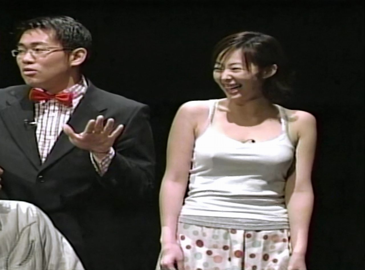 22歳の時にノーブラでバラエティー番組に出演した井上和香の乳首ぽち