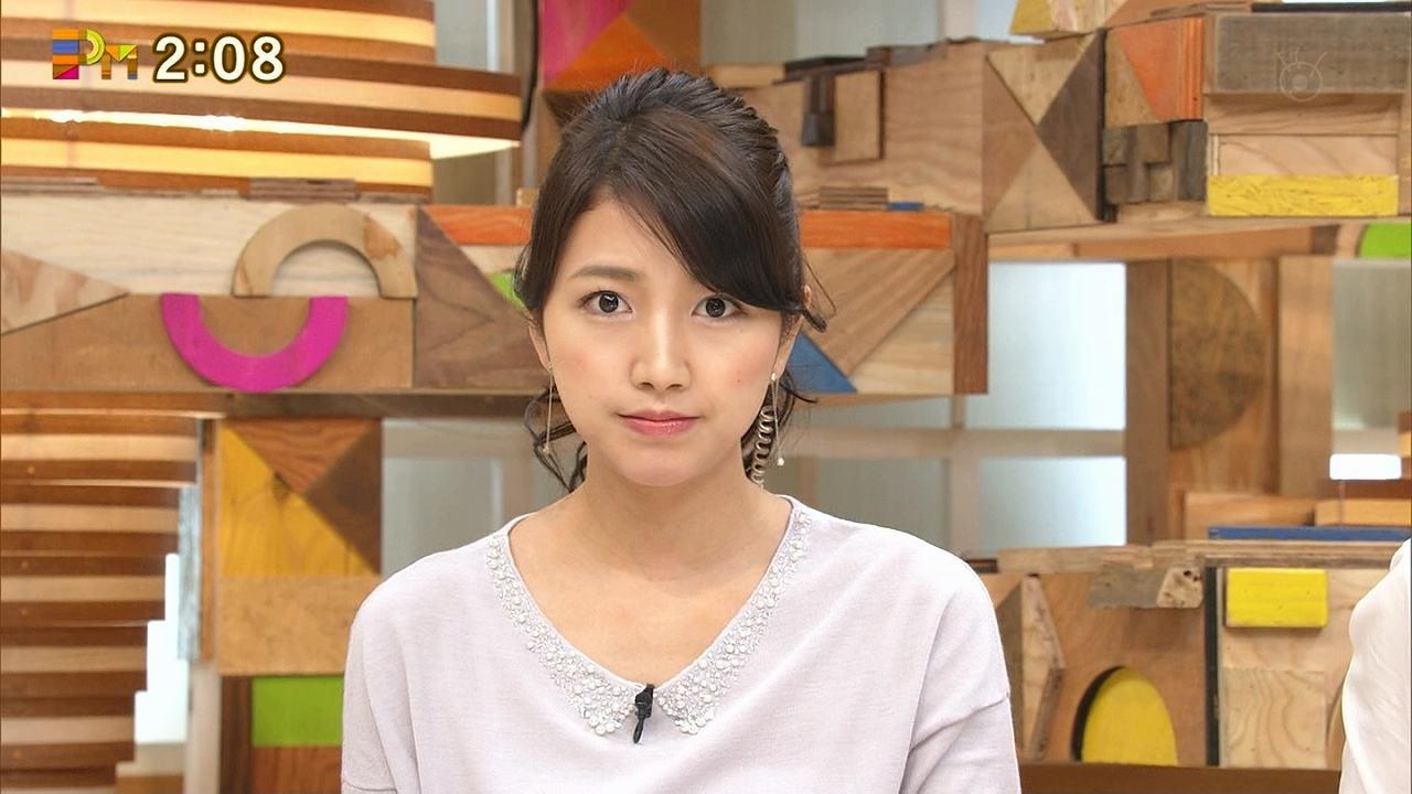 グッディに胸を強調した衣装で出演した三田友梨佳アナ