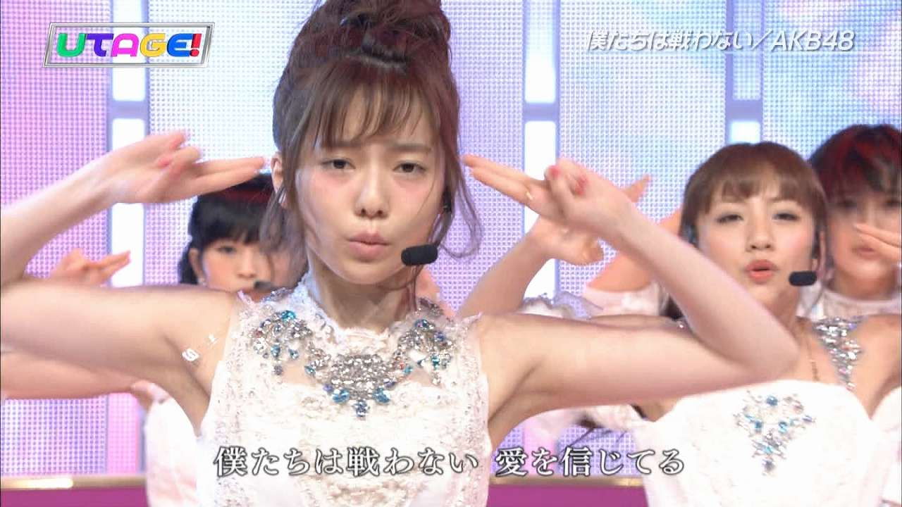 「UTAGE!」僕たちは戦わないを歌うAKB48・島崎遥香の二日酔いメイク(酔っ払いメイク)