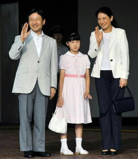 皇太子殿下、雅子さまと小学生時代の愛子さま