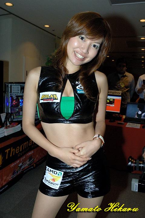 レースクイーン時代の前田知穂子