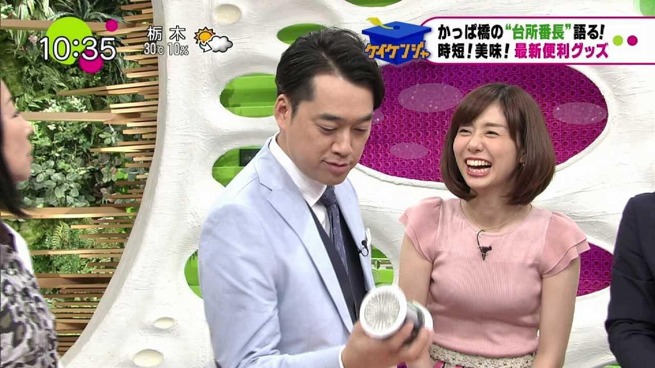 フジテレビ「ノンストップ!(NONSTOP!)」に胸を盛りまくって出演した日の山崎夕貴アナ