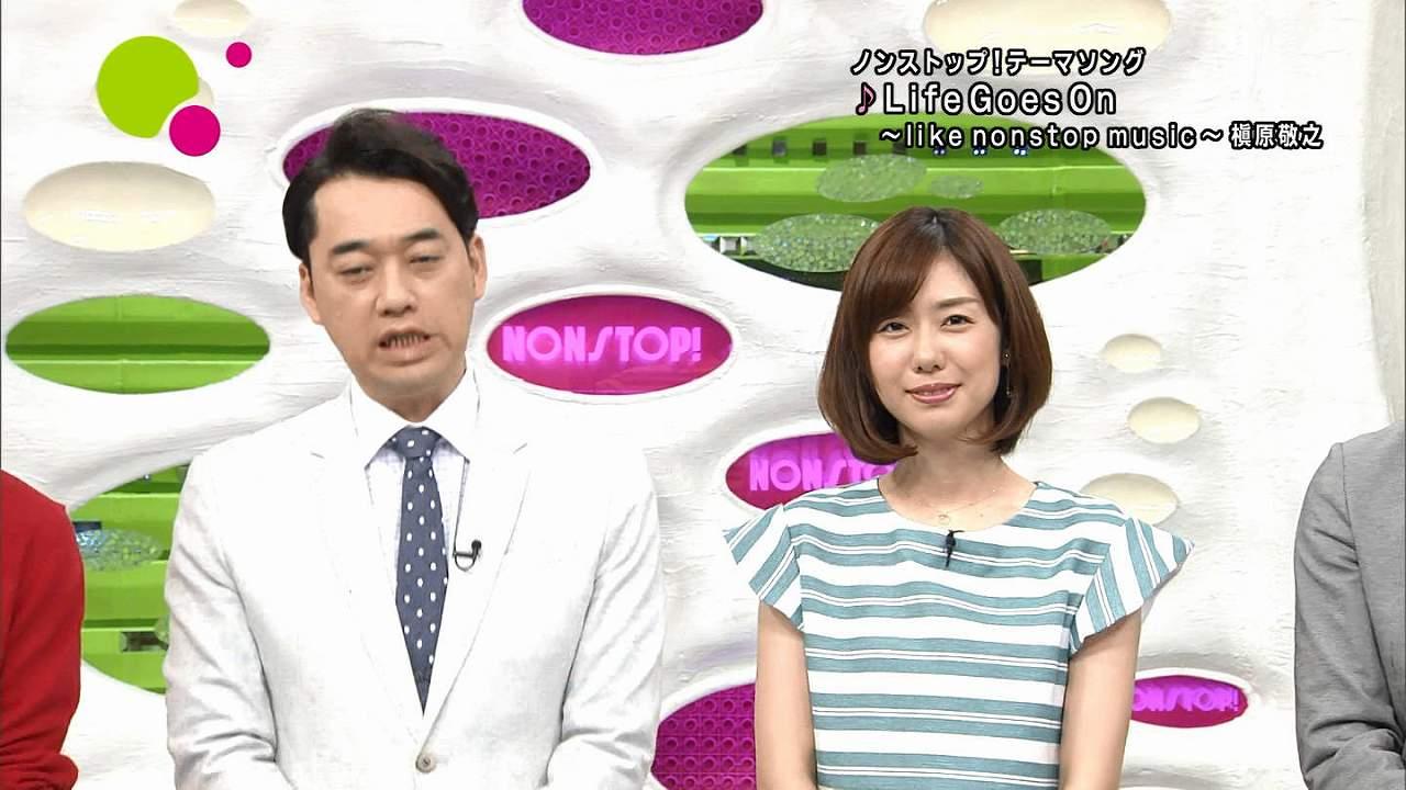 フジテレビ「ノンストップ!(NONSTOP!)」に胸を盛らずに出演した日の山崎夕貴アナ