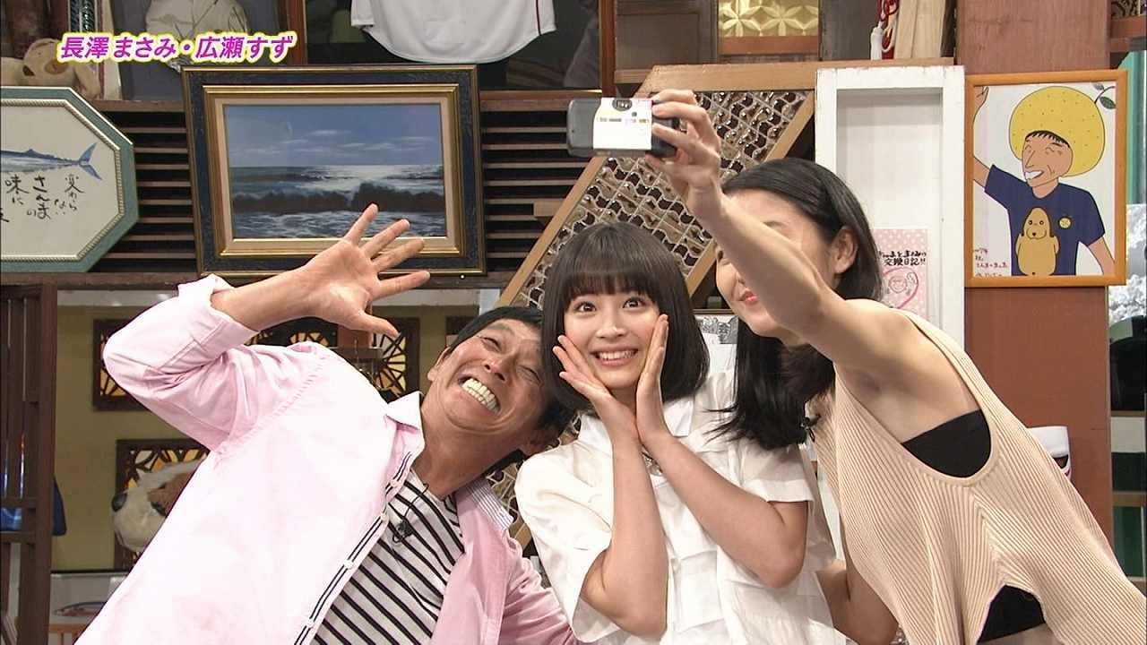 「さんまのまんま」に出演した長澤まさみと広瀬すず