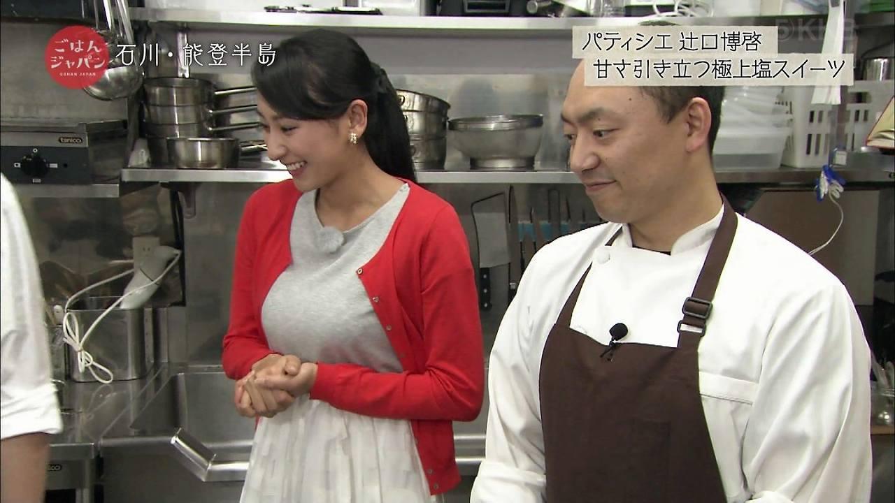 テレ朝「ごはんジャパン」に出演した浅田舞の着衣おっぱい