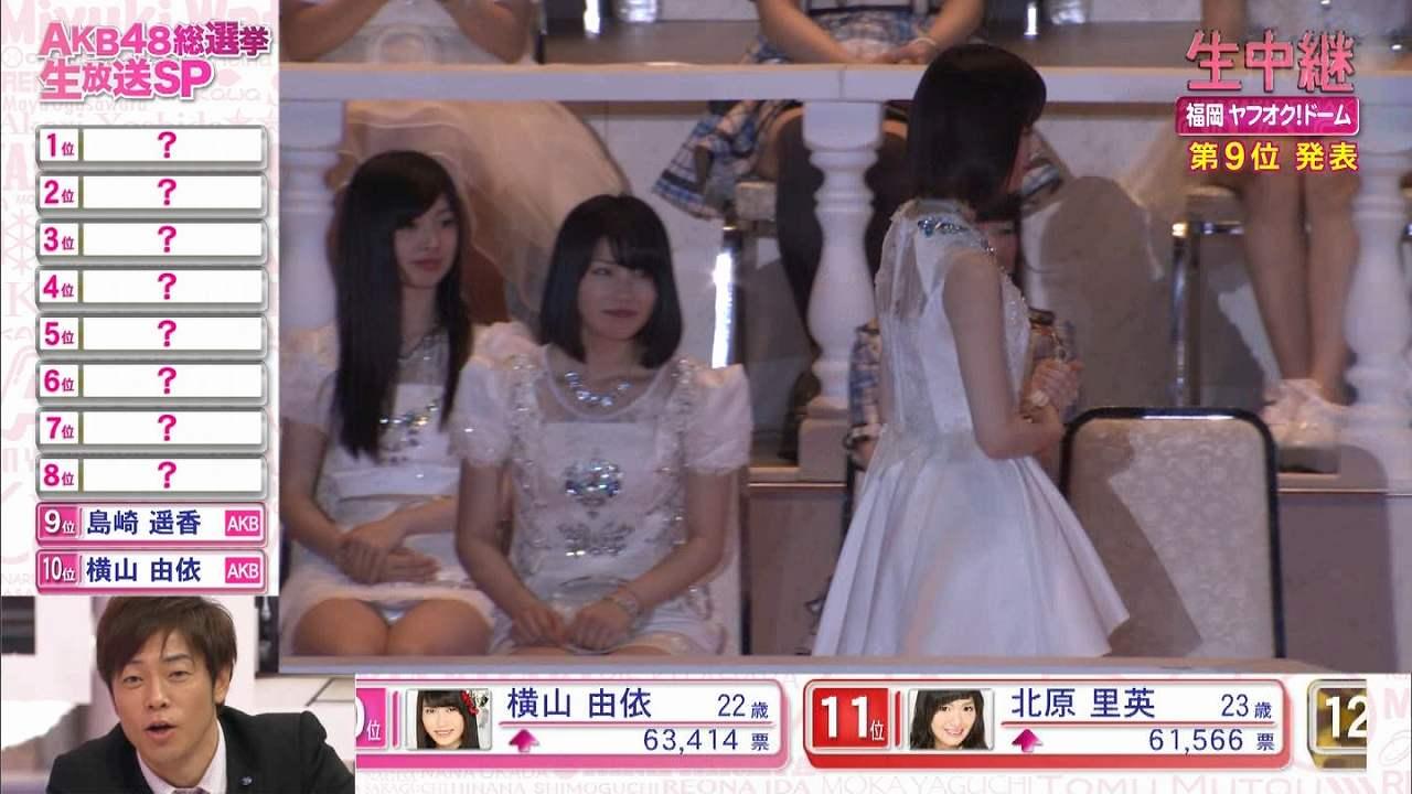 AKB48第7回選抜総選挙でパンチラするAKB48の武藤十夢