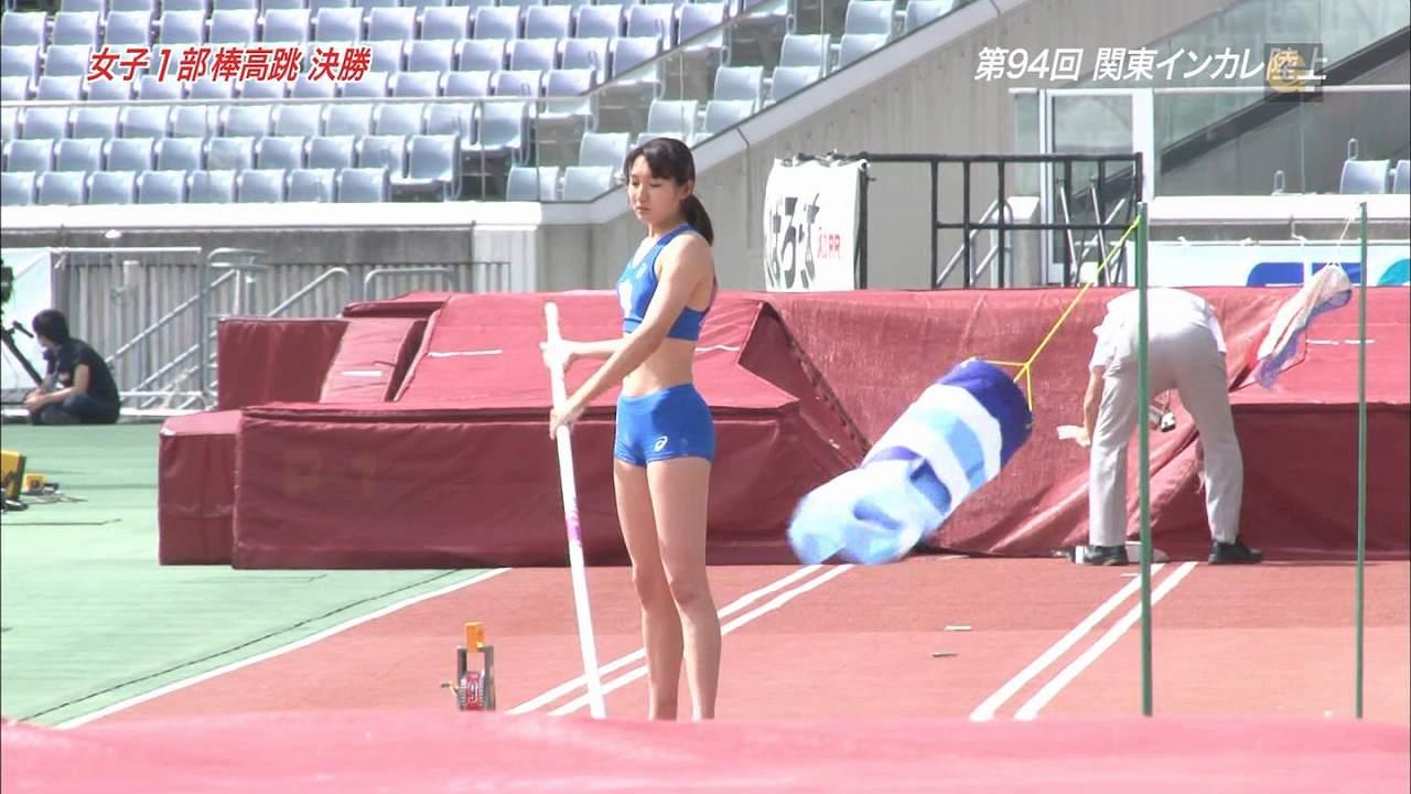 テレビ中継で映った女子陸上部選手のモリマン